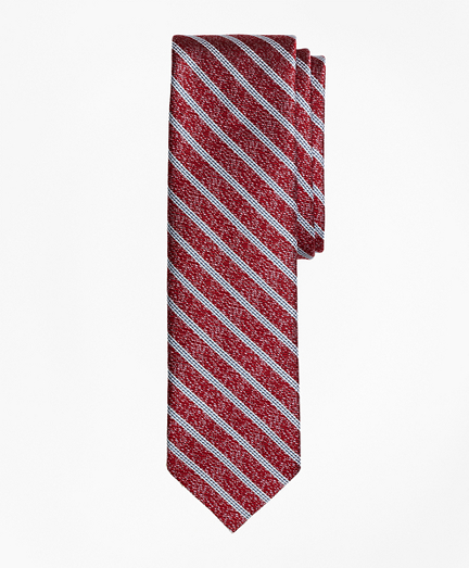 Heathered Stripe Silk Jacquard Tie