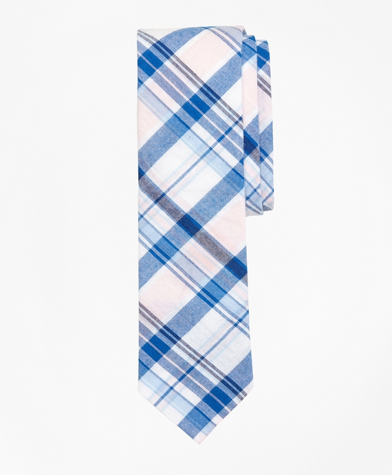 Plaid Madras Tie Pink
