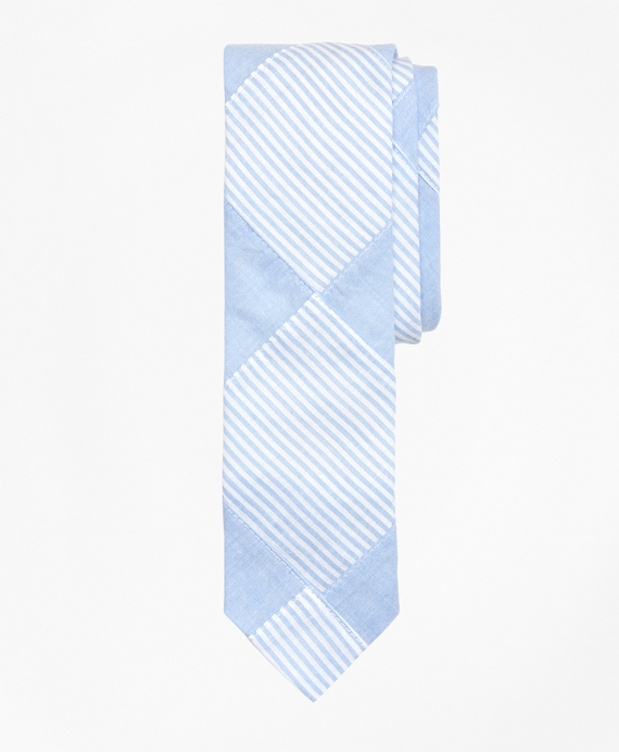 Cotton Patchwork Tie Chambray