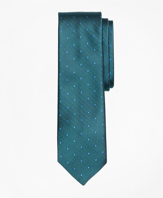Dot Silk Tie Teal