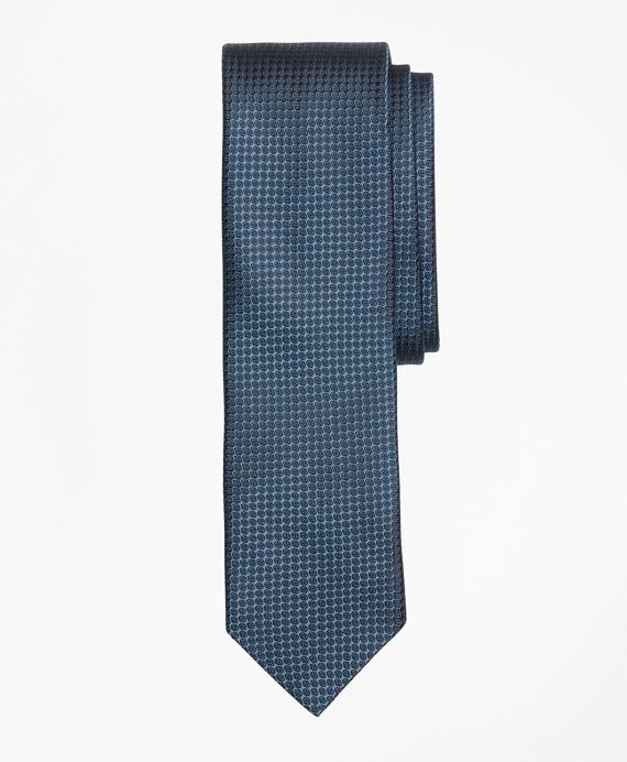 Textured Print Silk Tie Blue