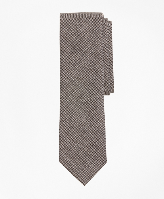Multi-Check Wool Tie Grey