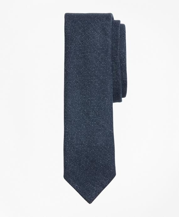 Striped Herringbone Tie Blue