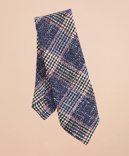 Plaid Cotton-Blend Dobby Tie
