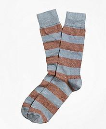 Marled Rugby Stripe Socks