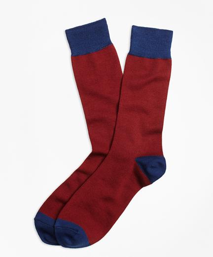 Color-Block Wool Crew Socks