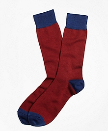 Color-Block Wool Crew Socks