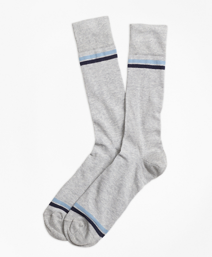 Stripe-Tip Crew Socks