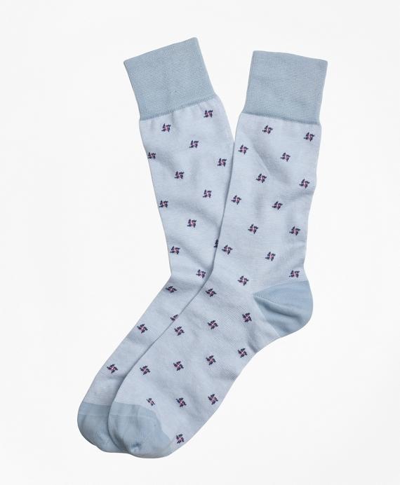 Pinwheel Crew Socks Blue