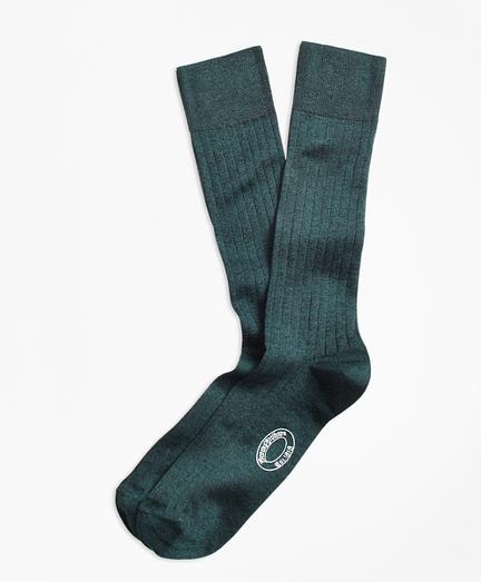 Rib-Knit Crew Socks