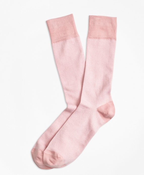 Color-Block Crew Socks Pink