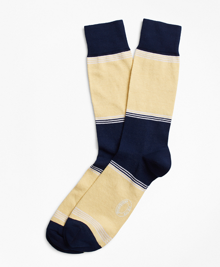 Striped Color-Block Crew Socks
