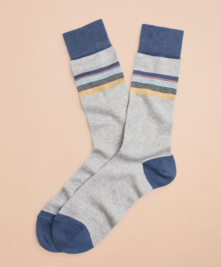 Color-Block Stripe Crew Socks