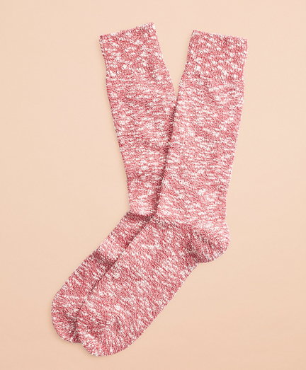 Marled Cotton Stretch Crew Socks
