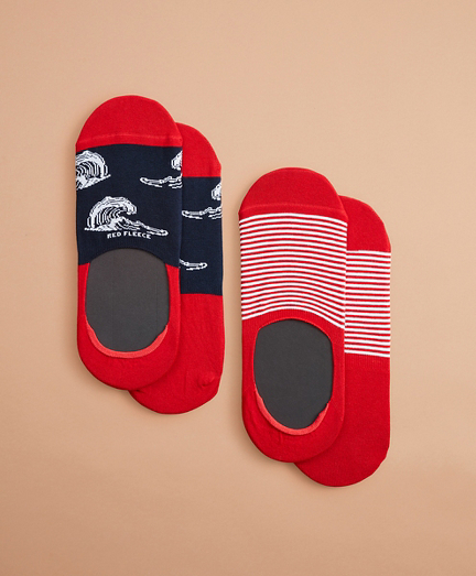 Wave No-Show Socks, Two Pack