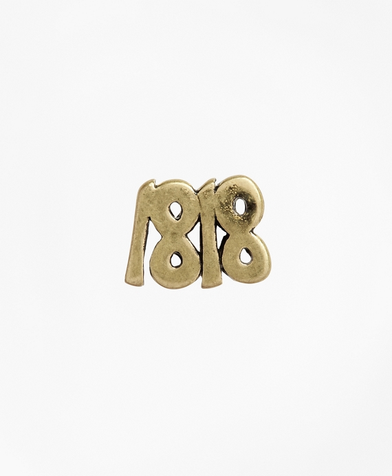 Silver 1818 Lapel Pin Gold