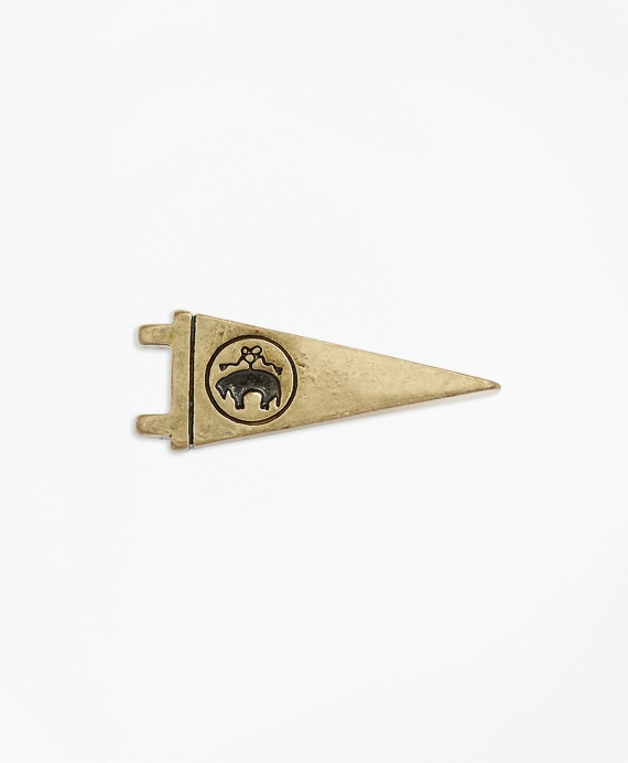 Gold Logo Pennant Lapel Pin Gold