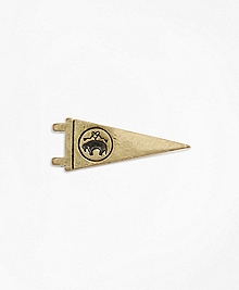 Gold Logo Pennant Lapel Pin