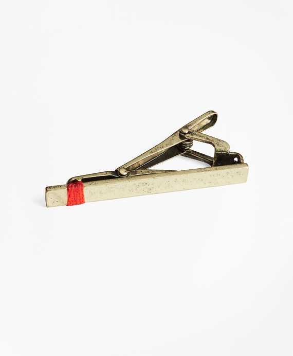 Threaded Tie Bar Gold-Red