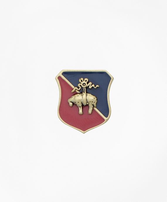 Shield Enamel Lapel Pin Gold
