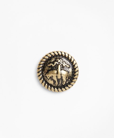 Distressed Gold-Toned Lapel Pin