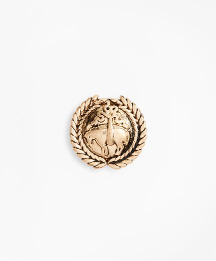 Gold-Tone Laurel Crest Lapel Pin