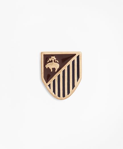Gold-Tone Shield Lapel Pin