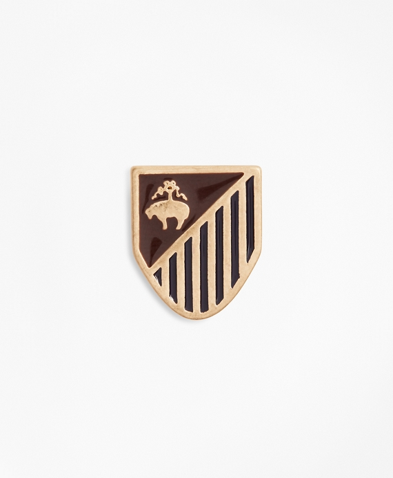 Gold-Tone Shield Lapel Pin Gold