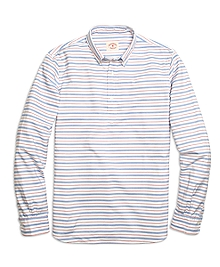 Horizontal Stripe Popover Sport Shirt