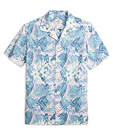 Tropical Print Sport Shirt