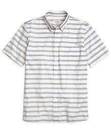 Stripe Short-Sleeve Sport Shirt