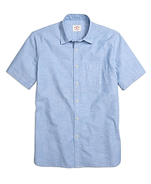 Chambray Short-Sleeve Sport Shirt
