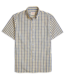 Seersucker Check Short-Sleeve Sport Shirt