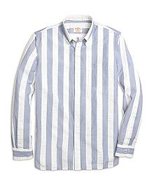 Seersucker Wide Stripe Sport Shirt