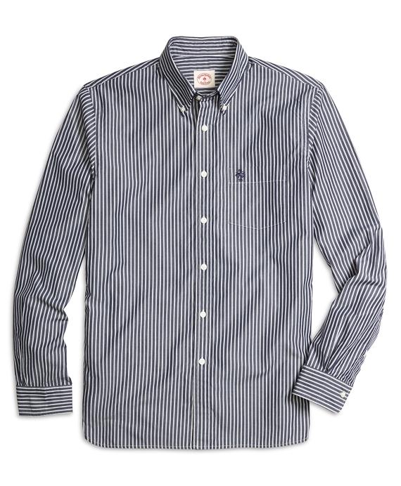Navy Stripe Sport Shirt Navy