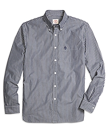 Navy Stripe Sport Shirt