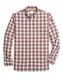 Red Plaid Sport Shirt