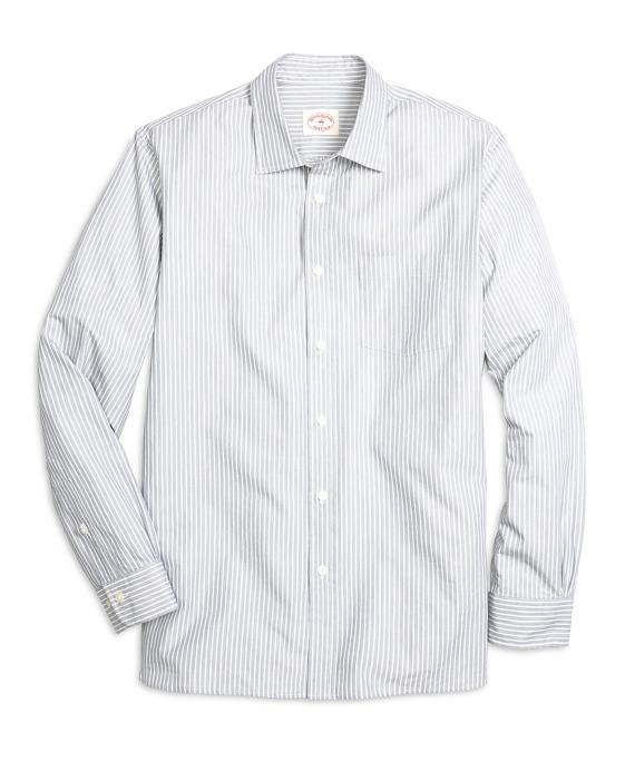 Nine to Nine Grey Stripe Sport Shirt