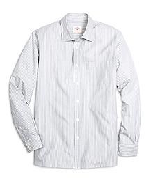 Nine to Nine Grey Stripe Sport Shirt