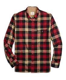Buffalo Check Flannel Sport Shirt