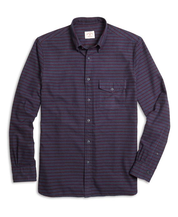 Stripe Flannel Sport Shirt