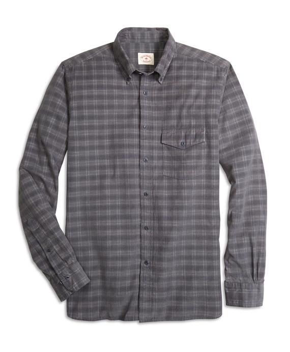 Plaid Corduroy Sport Shirt