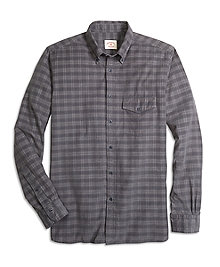 Plaid Corduroy Sport Shirt