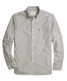 Grey and Orange Stripe Sport Shirt