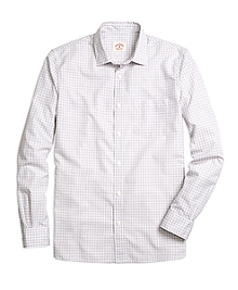 Nine to Nine Blue Check Sport Shirt