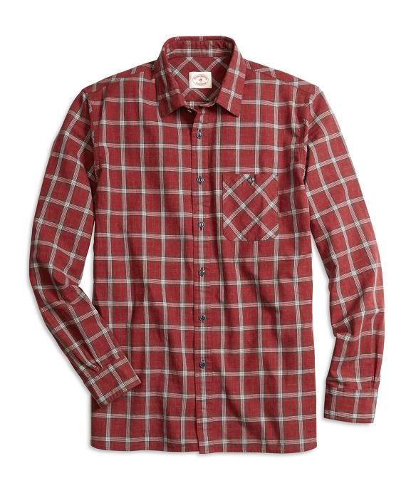 Homespun Plaid Sport Shirt Red