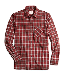 Homespun Plaid Sport Shirt