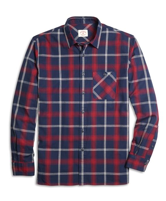 Homespun Blue Plaid Sport Shirt