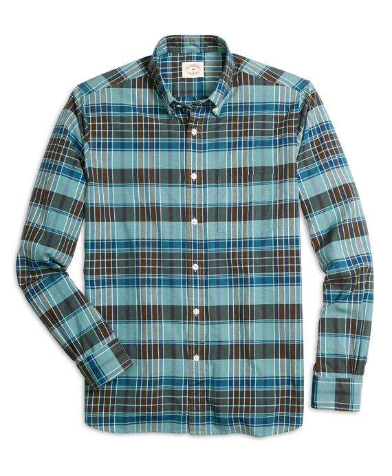 Blue Madras Sport Shirt Blue