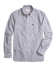 Blue and Red Stripe Sport Shirt